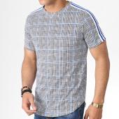 /achat-t-shirts-longs-oversize/uniplay-tee-shirt-oversize-a-carreaux-avec-bandes-go57-noir-blanc-bleu-roi-183036.html