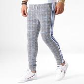 /achat-pantalons-carreaux/uniplay-pantalon-a-carreaux-avec-bandes-go58-noir-blanc-bleu-183118.html