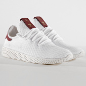/achat-baskets-basses/adidas-baskets-tennis-hu-pharrell-williams-d96443-footwear-white-burgundy-183361.html