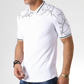 /achat-polos-manches-courtes/ikao-polo-manches-courtes-oversize-f513-blanc-noir-183409.html