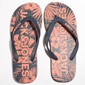 /achat-tongs/jack-and-jones-tongs-campaign-flip-flop-corail-noir-183348.html