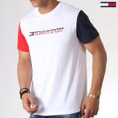 /achat-t-shirts/tommy-sport-tee-shirt-colour-block-logo-0103-blanc-bleu-marine-rouge-183340.html