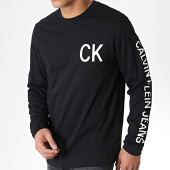 /achat-t-shirts-manches-longues/calvin-klein-tee-shirt-manches-longues-ck-on-the-back-2487-noir-blanc-183424.html