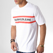/achat-t-shirts/calvin-klein-tee-shirt-chest-stripe-institutional-2592-blanc-corail-noir-183432.html
