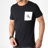 /achat-t-shirts-poche/calvin-klein-tee-shirt-poche-monogram-2993-noir-blanc-183453.html