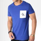 /achat-t-shirts-poche/calvin-klein-tee-shirt-poche-monogram-2993-bleu-roi-blanc-183463.html