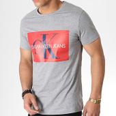 /achat-t-shirts/calvin-klein-tee-shirt-monogram-logo-3564-gris-chine-rouge-183465.html