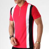 /achat-polos-manches-courtes/frilivin-polo-manches-courtes-zippe-ap7238-rouge-noir-blanc-183578.html