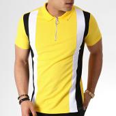 /achat-polos-manches-courtes/frilivin-polo-manches-courtes-zippe-ap7238-jaune-noir-blanc-183580.html