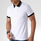 /achat-polos-manches-courtes/frilivin-polo-manches-courtes-ap7239-blanc-noir-183582.html
