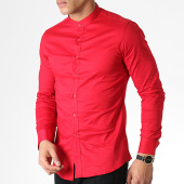 /achat-chemises-manches-longues/frilivin-chemise-manches-longues-col-mao-1806-rouge-183597.html