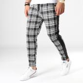 /achat-pantalons-carreaux/frilivin-pantalon-a-carreaux-avec-bandes-1602-noir-blanc-183600.html