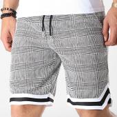 /achat-shorts-jogging/frilivin-short-a-carreaux-1355a-noir-blanc-183647.html