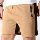 /achat-shorts-jogging/frilivin-short-jogging-a-bandes-bm1130-camel-noir-183654.html