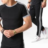 /achat-ensembles-survetement/frilivin-ensemble-tee-shirt-oversize-pantalon-jogging-a-carreaux-avec-bandes-5197a-noir-blanc-183669.html