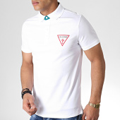 /achat-polos-manches-courtes/guess-polo-manches-courtes-m93p37k8fq0-blanc-183727.html