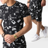 /achat-ensembles-survetement/john-h-ensemble-tee-shirt-et-short-tp815-noir-blanc-183485.html