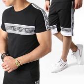 /achat-ensembles-survetement/john-h-ensemble-tee-shirt-et-short-a-bandes-avec-strass-es11-noir-blanc-183495.html