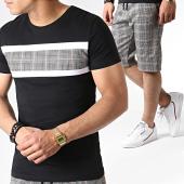 /achat-ensembles-survetement/john-h-ensemble-tee-shirt-et-short-a-carreaux-es07-noir-blanc-orange-183500.html