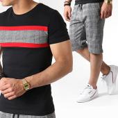 /achat-ensembles-survetement/john-h-ensemble-tee-shirt-et-short-a-carreaux-es07-noir-blanc-rouge-183506.html