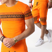 /achat-ensembles-survetement/john-h-ensemble-tee-shirt-et-short-a-strass-es03-orange-noir-183508.html