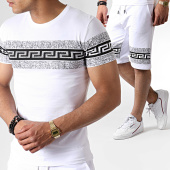 /achat-ensembles-survetement/john-h-ensemble-tee-shirt-et-short-a-strass-es03-blanc-noir-183520.html