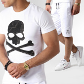 /achat-ensembles-survetement/john-h-ensemble-tee-shirt-et-short-a-strass-tp807-blanc-noir-183522.html