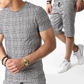 /achat-ensembles-survetement/john-h-ensemble-tee-shirt-et-short-a-carreaux-tp802-noir-blanc-marron-183526.html