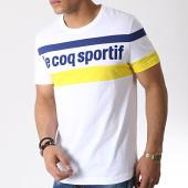 /achat-t-shirts/le-coq-sportif-tee-shirt-ess-saison-n2-blanc-bleu-marine-jaune-183527.html