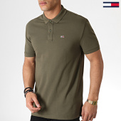 /achat-polos-manches-courtes/tommy-hilfiger-jeans-polo-manches-courtes-classics-solid-6112-vert-kaki-183733.html