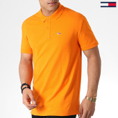 /achat-polos-manches-courtes/tommy-hilfiger-jeans-polo-manches-courtes-classics-solid-6112-orange-183738.html