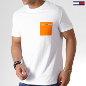 /achat-t-shirts-poche/tommy-hilfiger-jeans-tee-shirt-poche-contrast-pocket-6651-blanc-183740.html