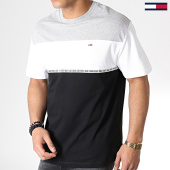 /achat-t-shirts/tommy-hilfiger-jeans-tee-shirt-colorblocked-tape-6861-gris-chine-blanc-noir-183744.html