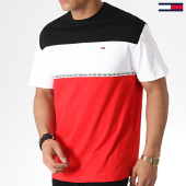 /achat-t-shirts/tommy-hilfiger-jeans-tee-shirt-colorblocked-tape-6861-noir-rouge-blanc-183745.html