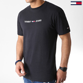 /achat-t-shirts/tommy-hilfiger-jeans-tee-shirt-small-logo-7231-noir-183746.html
