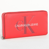 /achat-portefeuilles/calvin-klein-portefeuille-femme-sculpted-large-ziparound-5547-rouge-183781.html