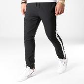 /achat-pantalons-carreaux/classic-series-pantalon-avec-bandes-3122-noir-183936.html