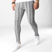 /achat-pantalons-carreaux/denim-lab-pantalon-a-carreaux-13882-gris-183880.html