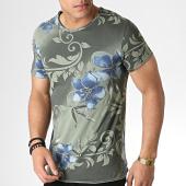 /achat-t-shirts/mtx-tee-shirt-tm0173-vert-kaki-floral-183992.html