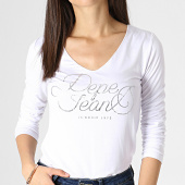 https://www.laboutiqueofficielle.com/achat-t-shirts-manches-longues/pepe-jeans-tee-shirt-femme-manches-longues-andy-blanc-argente-183775.html