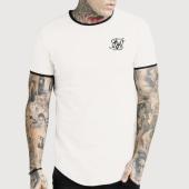 /achat-t-shirts-longs-oversize/siksilk-tee-shirt-oversize-ringer-gym-14294-ecru-noir-183885.html