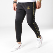 /achat-pantalons-joggings/siksilk-pantalon-jogging-crop-a-bandes-taped-14284-noir-dore-183889.html