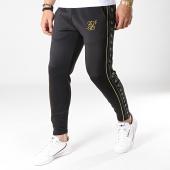 /achat-pantalons-joggings/siksilk-pantalon-jogging-crop-a-bandes-taped-14284-noir-dore-183889.html