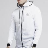 /achat-sweats-zippes-capuche/siksilk-sweat-zippe-capuche-agility-printed-13757-blanc-gris-noir-183891.html