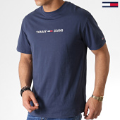 /achat-t-shirts/tommy-hilfiger-jeans-tee-shirt-small-logo-7231-bleu-marine-183747.html