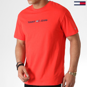 /achat-t-shirts/tommy-hilfiger-jeans-tee-shirt-small-logo-7231-rouge-183749.html