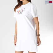 /achat-robes/tommy-hilfiger-jeans-robe-femme-graphic-6267-blanc-183762.html