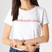 /achat-t-shirts/calvin-klein-tee-shirt-femme-institutional-logo-7940-blanc-rouge-184093.html