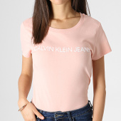 /achat-t-shirts/calvin-klein-tee-shirt-femme-institutional-logo-7940-rose-blanc-184095.html
