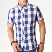 /achat-chemises-manches-courtes/mtx-chemise-manches-courtes-a-carreaux-dx2137-bleu-marine-blanc-184014.html